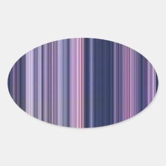 Dark Blue Pink Stripes Oval Sticker