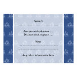Dark Blue Pirate Ship Pattern. Personalized Announcements