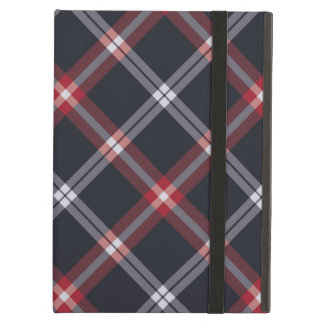 Dark Blue Plaid iPad Air Covers