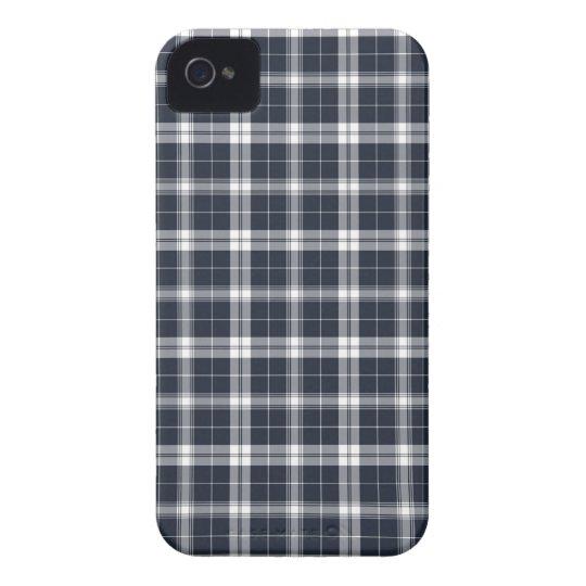 Dark Blue Plaid iPhone 4s Case