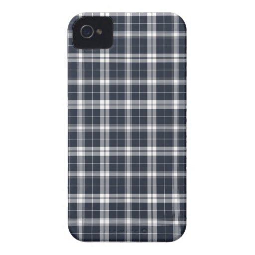 Dark Blue Plaid iPhone 4s Case Case-Mate iPhone 4 Cases