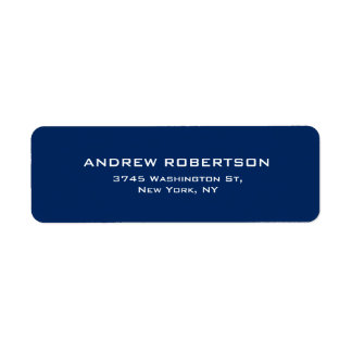 Dark Blue Plain Elegant Contemporary Unique Label
