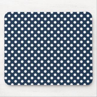 Dark Blue Polka Dot Mousepad Mouse Pad