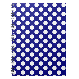 Dark Blue Polka Dots Notebooks