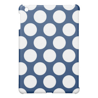 Dark Blue Polkadot iPad Mini Covers
