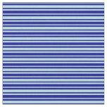 [ Thumbnail: Dark Blue & Powder Blue Striped Pattern Fabric ]