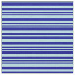 [ Thumbnail: Dark Blue & Powder Blue Stripes Fabric ]