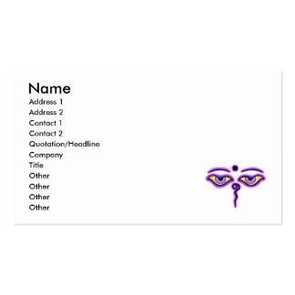Dark Blue Purple Buddha Eyes copy.png Business Card Template