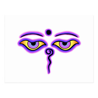 Dark Blue Purple Buddha Eyes copy.png Postcard