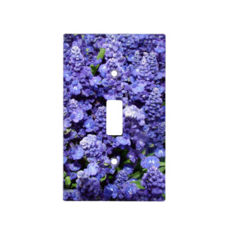 Dark Blue Purple Flowery Lightswitch Cover Switch Plate Cover