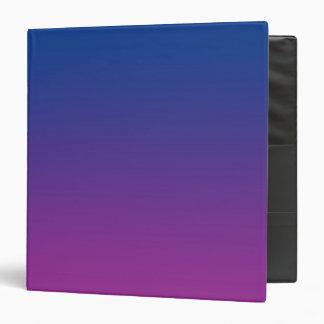 Dark Blue & Purple Ombre 3 Ring Binder