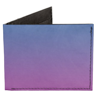 Dark Blue & Purple Ombre Billfold Wallet