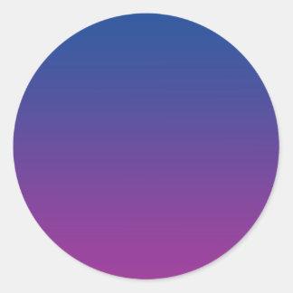 Dark Blue & Purple Ombre Classic Round Sticker