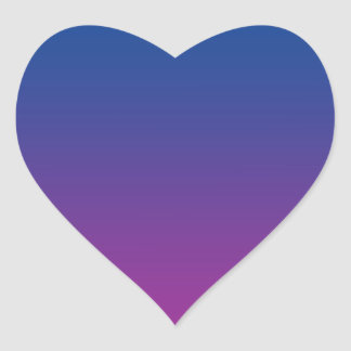 Dark Blue & Purple Ombre Heart Sticker