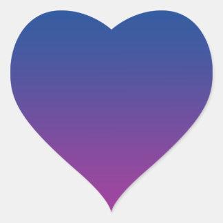 Dark Blue & Purple Ombre Heart Sticker