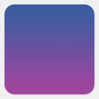 Dark Blue & Purple Ombre Square Sticker