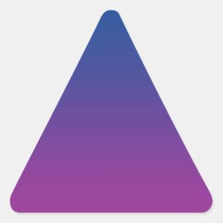 Dark Blue & Purple Ombre Triangle Sticker