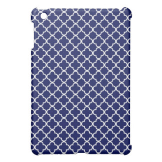 Dark Blue Quatrefoil Clover Pattern Cover For The iPad Mini