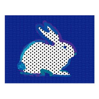 'dark blue rabbit' digital painting Postcard