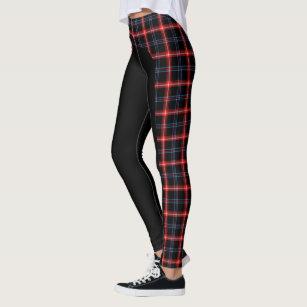 7d2748bd1161c Dark Blue/Red Tartan Side Stripe Leggings