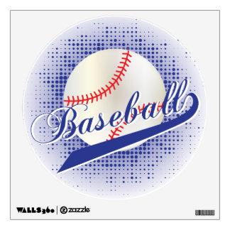 Dark Blue Retro Baseball Style Wall Decal