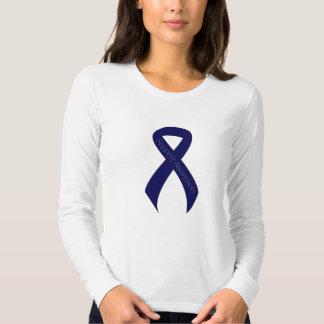 Dark Blue Ribbon Support Awareness T-Shirt