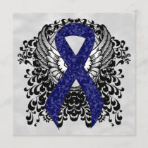 Dark Blue Ribbon with Wings