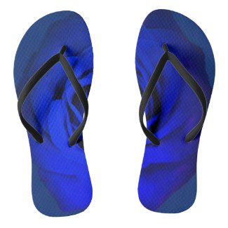 Dark Blue Rose Flip Flops
