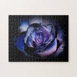 Dark Blue Rose Puzzle