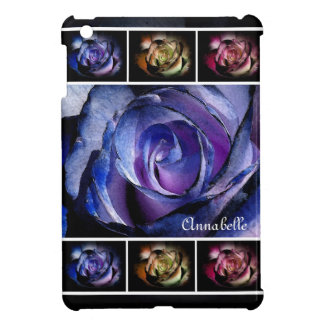 Dark Blue Rose & Rose Triptych Cover For The iPad Mini