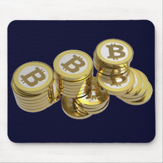 Dark blue rug for mouse with BITCOIN - M4 Mouse Pad