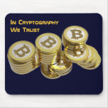Dark blue rug for mouse with BITCOIN - M4c Mousepad