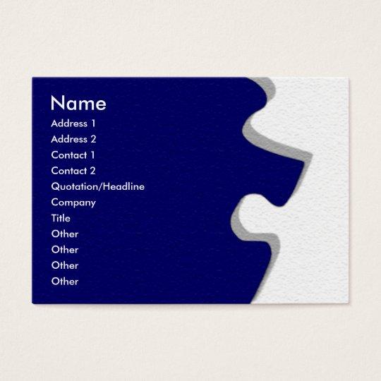 Dark Blue Sandstone Puzzle Profile Card
