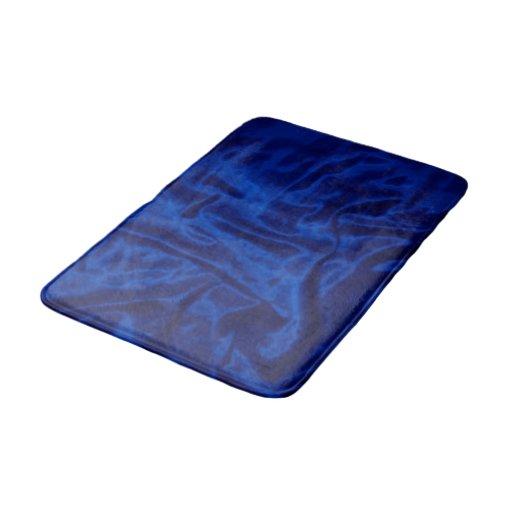 Dark Blue Satin Medium Bath Mat Bath Mats Zazzle