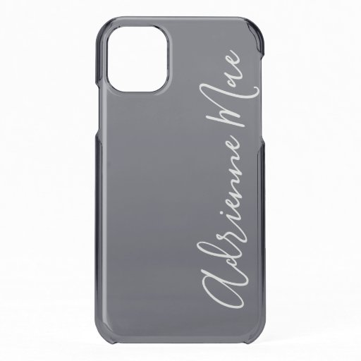 Dark Blue Satin Personalized iPhone 11 Case