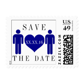 Dark Blue Save the Date Stamps