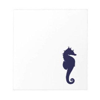 Dark Blue Seahorse Memo Notepad
