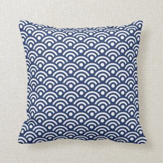 Dark Blue Seigaiha Pillow