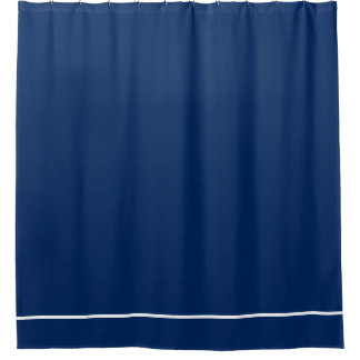dark blue shower curtain. Dark Blue shower curtain with white line border Solid Shower Curtains  Zazzle