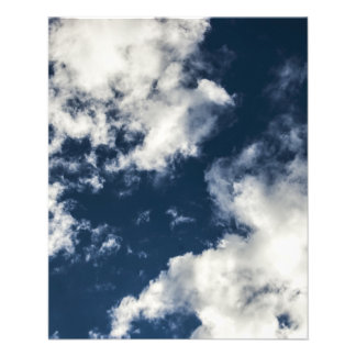 Dark blue sky and beautiful clouds flyer