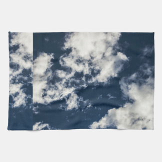 Dark blue sky and beautiful clouds kitchen towels