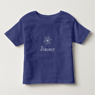 dark blue Snowflake Editable toddler T-Shirt
