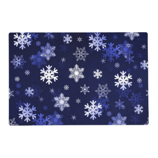 Dark Blue Snowflakes Placemat