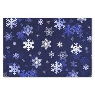Dark Blue Snowflakes Tissue Paper