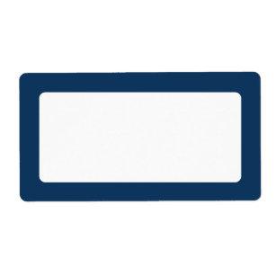 blue border labels zazzle
