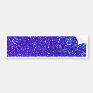 Dark Blue Sparkle Glitter Night Sky Starfield Star Bumper Sticker