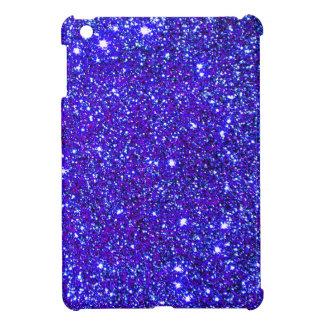 Dark Blue Sparkle Glitter Night Sky Starfield Star Cover For The iPad Mini