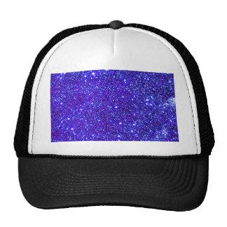 Dark Blue Sparkle Glitter Night Sky Starfield Star Trucker Hat