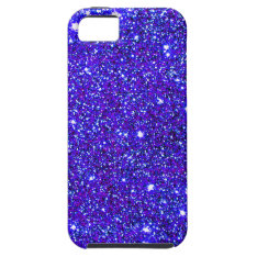 Dark Blue Sparkle Glitter Night Sky Starfield Star iPhone SE/5/5s Case at Zazzle