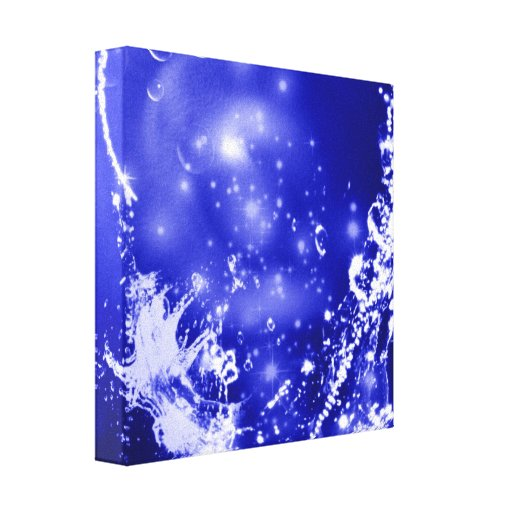 Dark Blue Splash Canvas Print